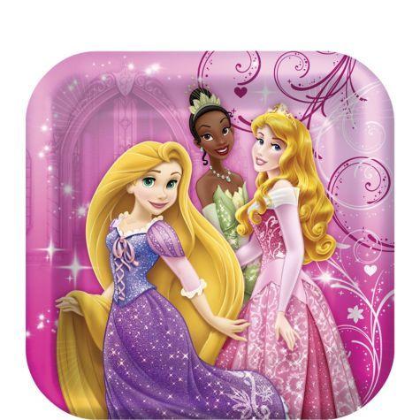 Disney Princess Dessert Plates 8ct - Party City