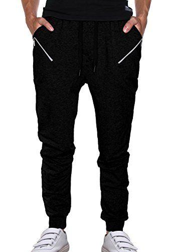 HEMOON Herren Traininghose Haremshose Sporthose Fitness Crotch Hose # H155P22 Schwarz XL - http://uhr.haus/hemoon/xl-hemoon-herren-traininghose-haremshose-loose-29