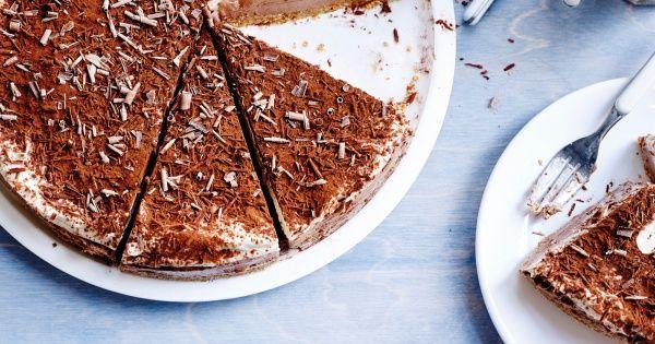 Cheesecake met koffie en chocolade
