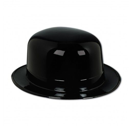 Chapeau en Plastique Derby - Noir