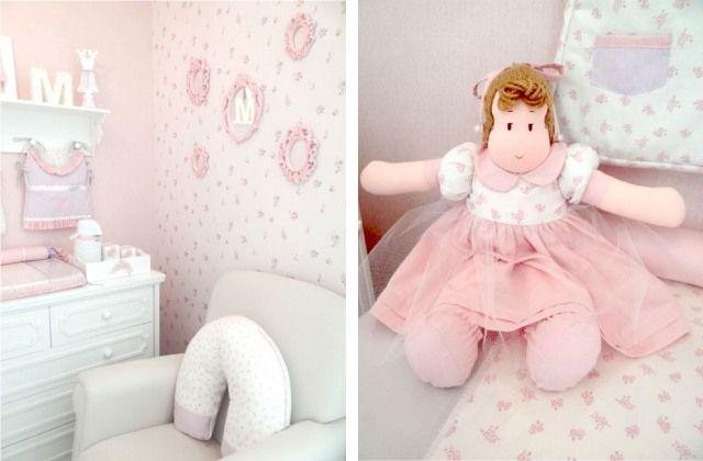 Quarto menina rosa roxo suaves