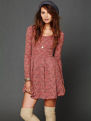 Rose Garden Dress w/ knee high socks and beanie - super cute!