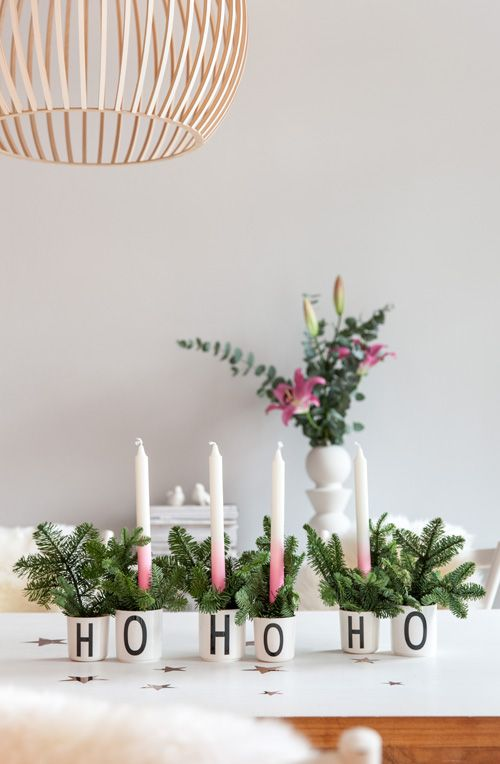 A HoHoHo Advent arrangement in a cup – as an alternative to the classic Advent wreath