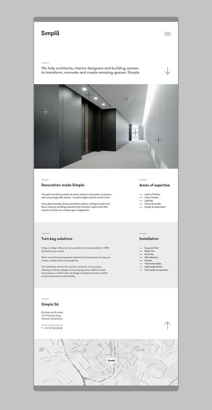 Simpla pozwalaspojrzeć na kwestię renowacji budynków w inny sposób. Prosto i szybko. Bez brudu i ciężkiego sprzętu. Nowa szwajcarska marka oferuje innowacyjne wykończenia architektoniczne, umożliwiające łatwą i szybką zmianę wyglądu przestrzeni biurowej / mieszkalnej. Naszym zadaniem było stworzenie mocnej, prostej nazwy oraz projekt identyfikacji wizualnej.