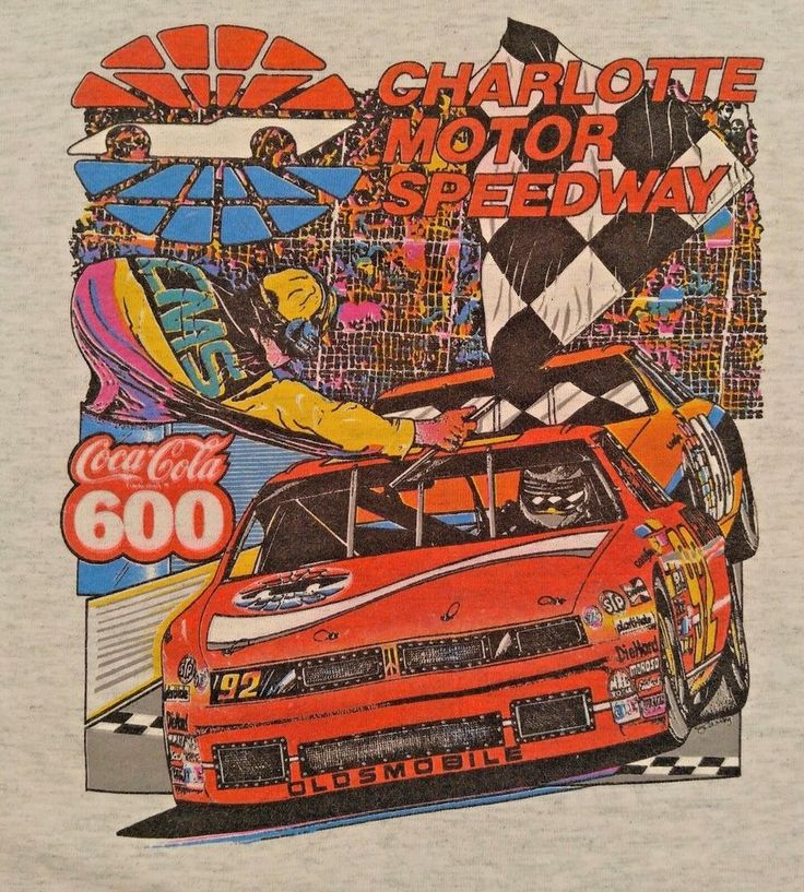Nascar Charlotte Motor Speedway Coca Cola 600 Tshirt Kids Size 10 12 Oldsmobile #ScreenStarsBest #TShirt #Everyday