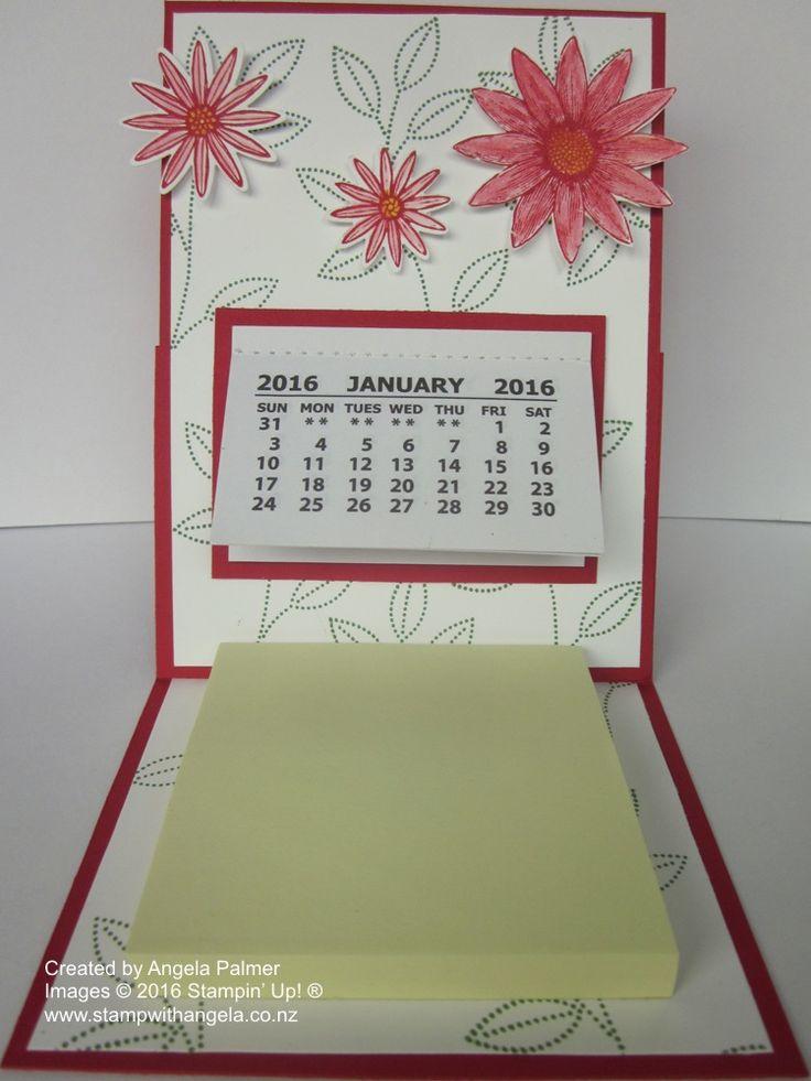 Grateful Bunch Desk Calendar Easel Card | Stamp With Angela