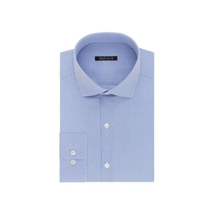 Big & Tall Van Heusen Flex Collar Slim Tall Dress Shirt, Men's, Size: 18.5 37-38, Blue Other
