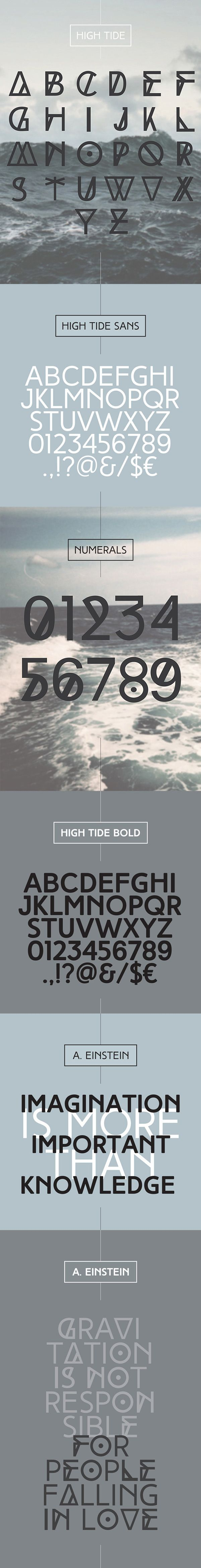 new typeface created by my need of having a more alternative font to use in my projectsFREE download in the LINKhttp://fontfabric.com/high-tide-free-fonts/