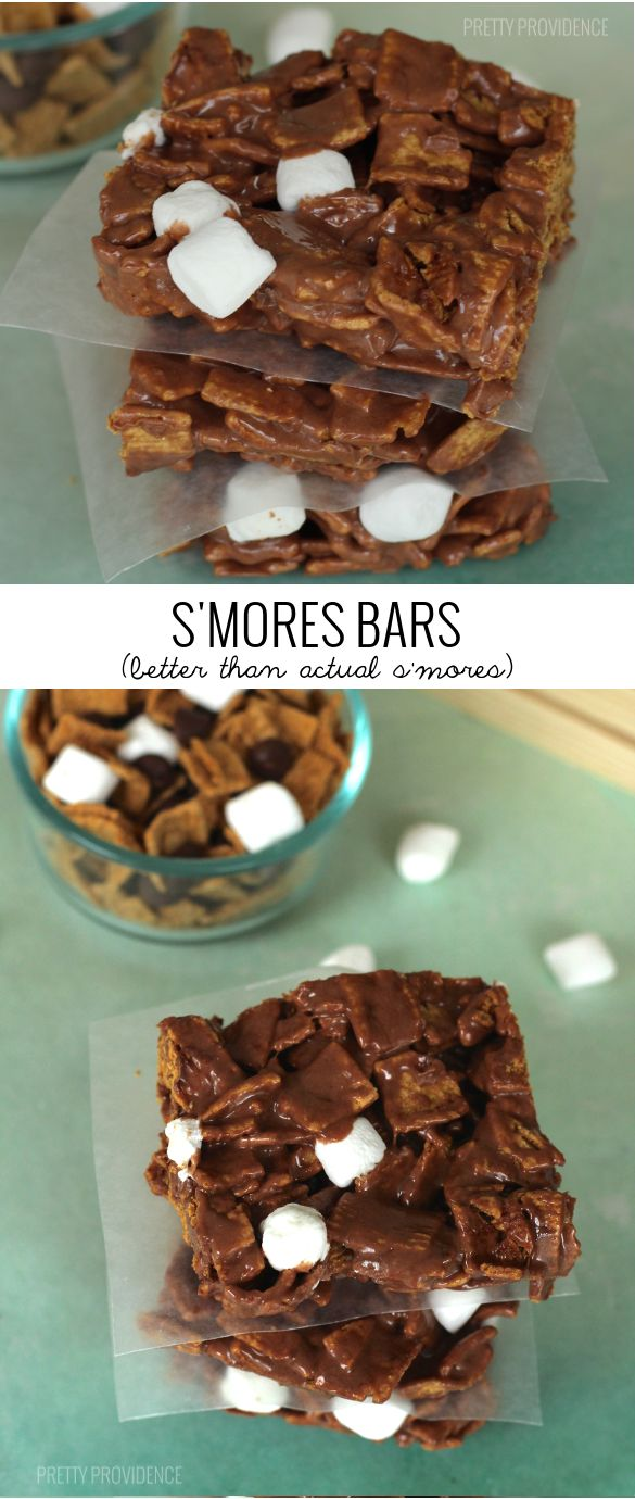 S'mores Bars! Golden Grahams covered in melty chocolate marshmallow! [prettyprovidence.com]