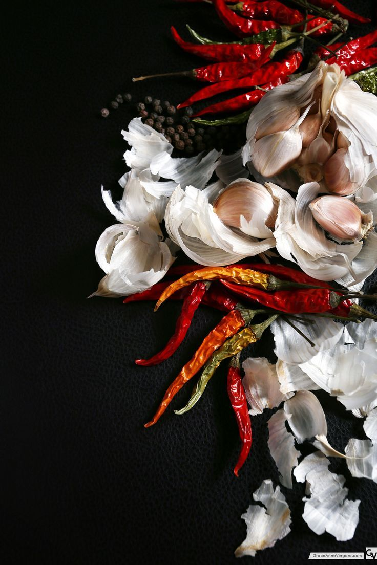 Garlic and Chili   Food Photography   Food Styling   Grace Anne Vergara