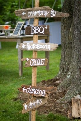 DIY Red Pink BBQ Picnic Maryland Wedding Rustic Direction Sign 275x412 Best of 2011 Real Weddings: Non Traditional Weddings