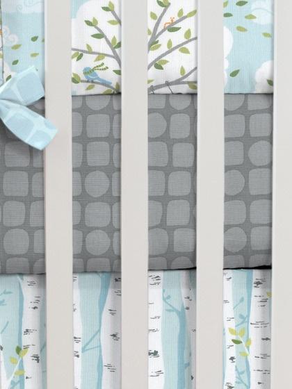 Gray Snakeskin Crib Sheet by Carousel Designs on Gilt. #baby #nursery