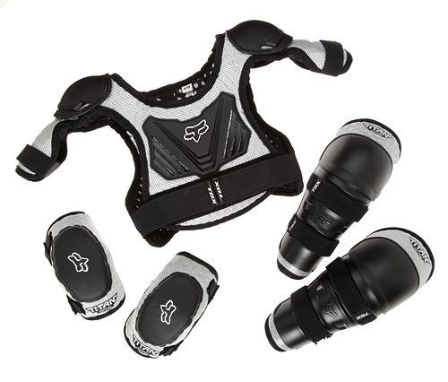 Fox Racing youth pads combo pack. Great setup for kids mountain biking, riding BMX, or light moto riding.