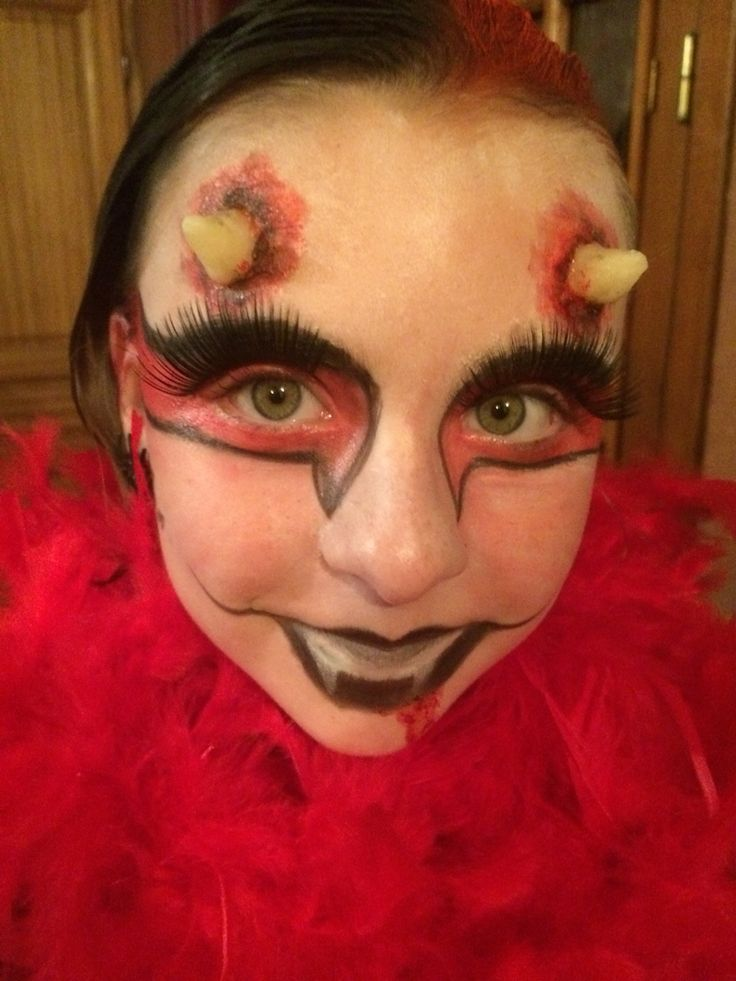 Maquillage diablesse Halloween 2015