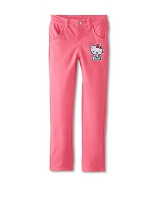 65% OFF Hello Kitty Girl's Knit Jeans (Carmine Rose)