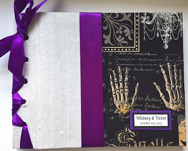Halloween Wedding Guestbook Gothic Guest Book Fall Party Custom Colors Available