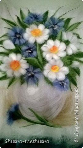 цветы из шерсти сухое валяние картины - Поиск в Google