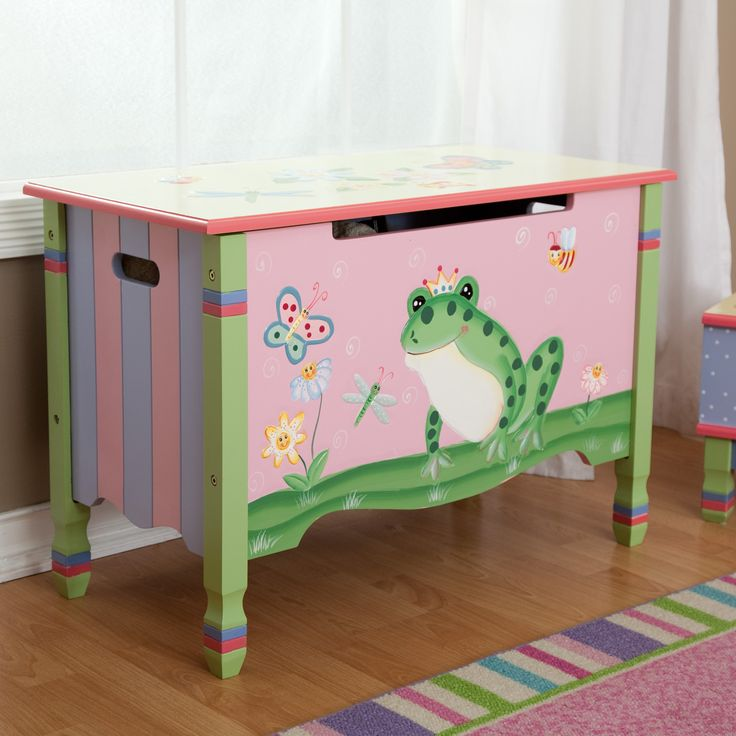 Have to have it. Teamson Kids Magic Garden Toy Chest - $144.4 @hayneedle.com