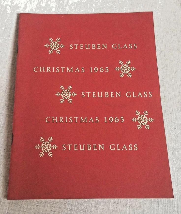 1965 Steuben Glass Christmas Catalog Booklet Black & White Photos Vintage #Steuben