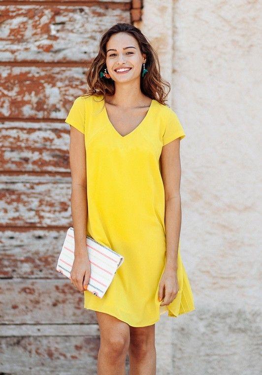 03db0bbbcf2bd4 Robe habillée de #grossesse Daphné jaune - Pomkin - #Taylorbox ...