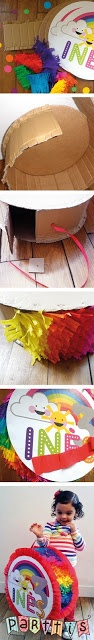 PARTTIS: Tutorial :: ¿Cómo hacer una piñata de tambor? :: How to make a round customized piñata