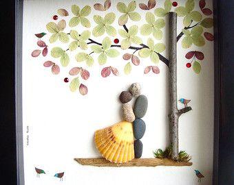 Hochzeit Geschenk Pebble Kunst-einzigartige Engagement Geschenk-einzigartige Hochzeit Geschenk-PAAR Geschenk-Liebe Geschenk - Braut und Bräutigam Geschenk-Pebble Kunst