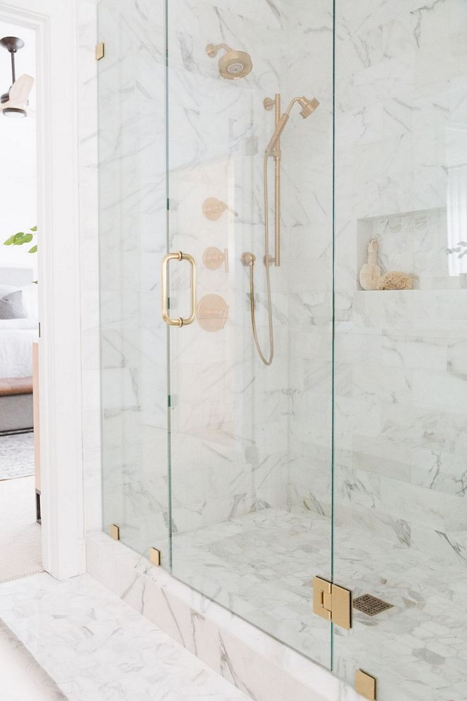 Shower Calacatta Gold Marble Tile Classic Shower Calacatta Gold