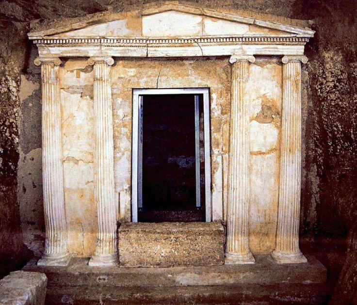 Macedonian (double chamber) tomb. Pella,Macedonia-Greece
