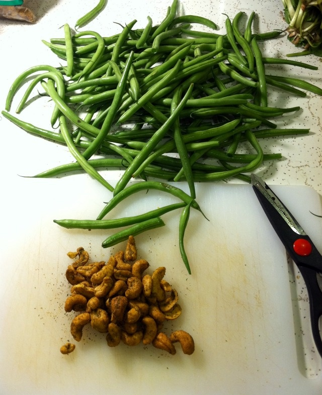 Asian Green Bean Salad & Arugula Brown Rice Pasta Salad w/Adzuki Beans ...