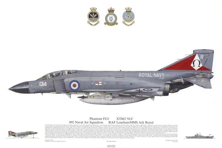Phantom FG1, 892 Naval Air Station, RAF Leuchars/HMS Ark Royal