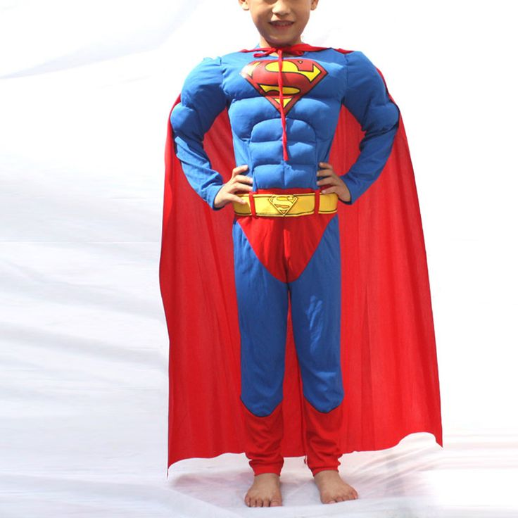 Kids Bob Muscle Superman Costume Boys Superman Cosplay Costume Halloween Costume for kids/Childrens Fancy Dress