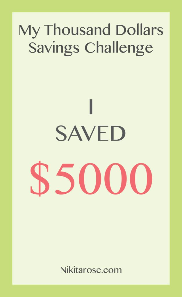 Savings Challenge | How I saved $5000 | My Thousand Dollars Savings Challenge | My Fifth Thousand Dollars | Grow Wealth