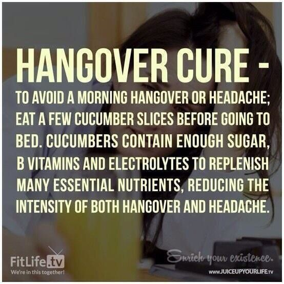 Natural Remedy Hangover Cure