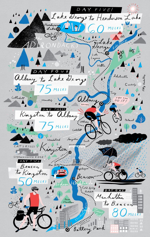 Biking the Hudson Map - Libby VanderPloeg