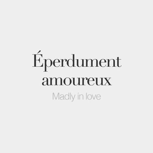 French Words dans éperdument il y a perdu ...