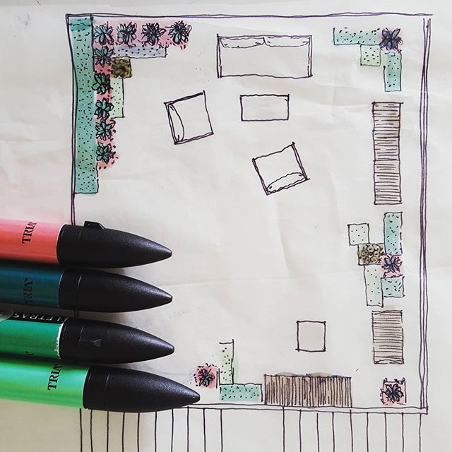 #landscapedesign #ilovemyjob #sketch #plan10 #pantone #markers #workinprogress