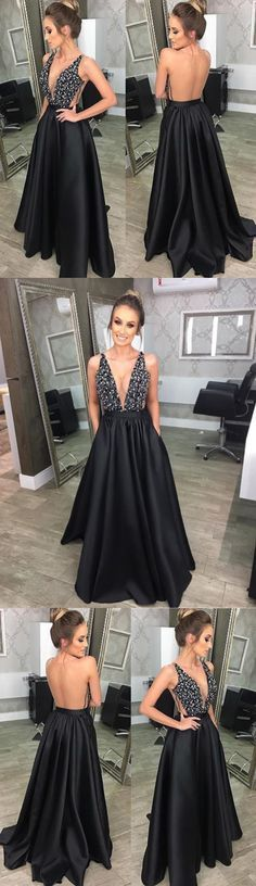 V-Neck A-Line Beading Prom Dresses,Long Prom Dresses,Cheap Prom Dresses, Evening Dress Prom Gowns, Formal Women Dress,Prom Dress