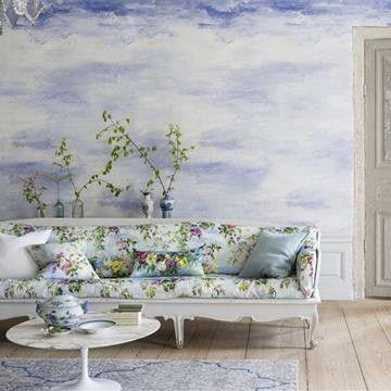 Cielo tapeter från Designers Guild  online | Tapeter | Engelska Tapetmagasinet | Inredning | Online | Göteborg | Floral Wallpaper