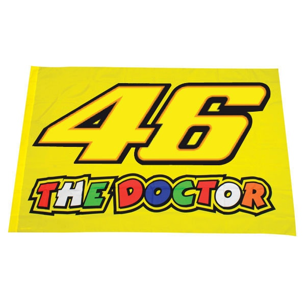 Valentino Rossi #46/The Doctor flag yellow