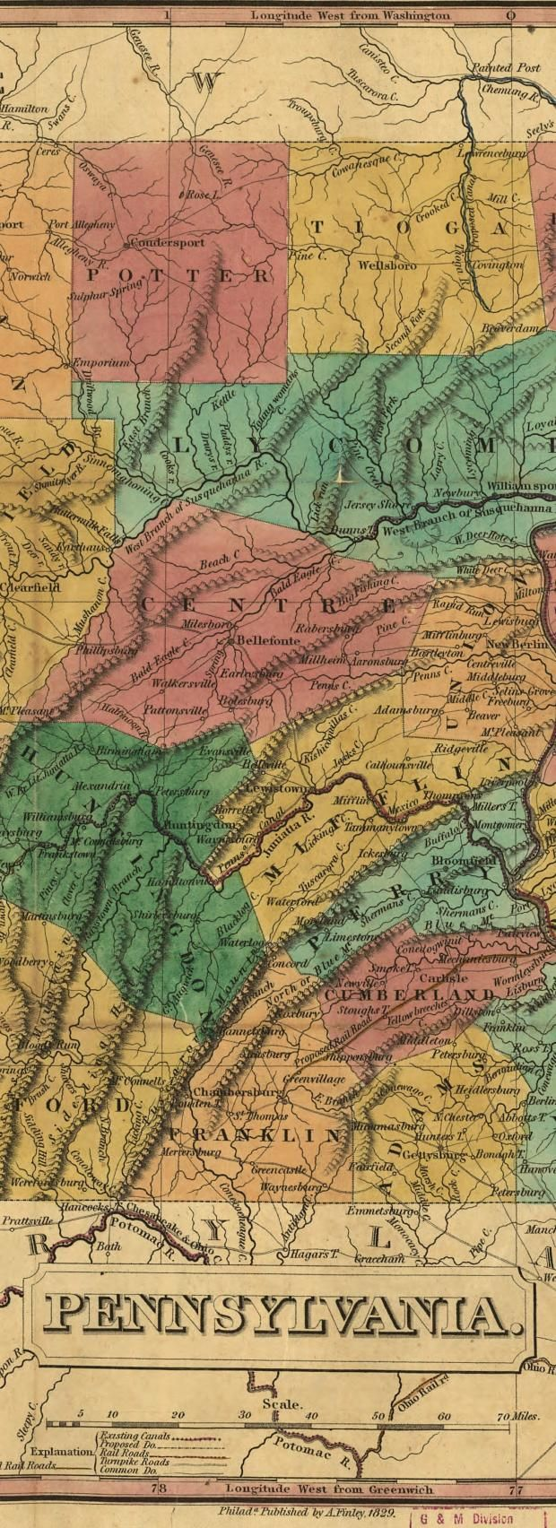 Deeply Zoomable map of Pennsylvania in 1826