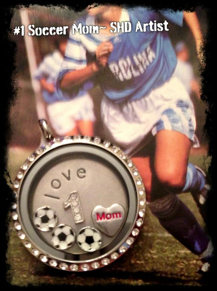 Love your life as a soccer mom? Share it with a unique South Hill Designs locket.
