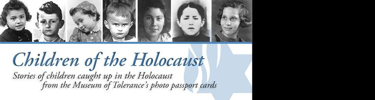 Children of the #Holocaust - Each of the children featured are accompanied with a biography and photograph.