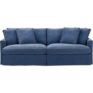 Crate Barrel Denim Sofa Love Decor Family Rooms In 2018 Pinterest Lounge And Furniture