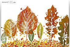 Штампинг. Листья. Рисуем вместе с детьми