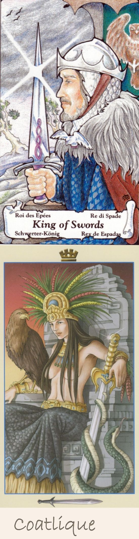 King of Swords: power and manipulative (reverse). Hanson Tarot deck and Universal Goddess Tarot deck: lotus tarot free reading online, tarot card for today and tarot cloth. New gothic art and lenormand cards decks. #trickortreat #halloweenparty #android #tarotcardsart