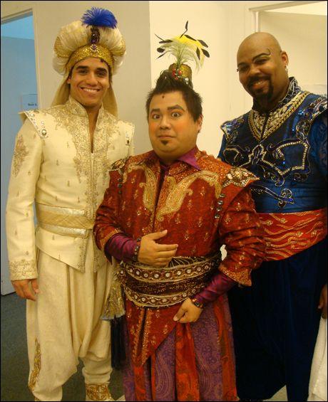 Adam Jacobs dressed up as Prince Ali, myself, and James Monroe ...