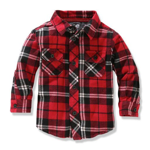 Baby Boys Flannel Button Up Shirt Baby Kids