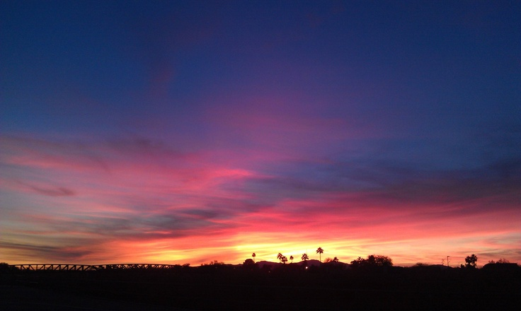 Sunset in Phoenix from cellphone