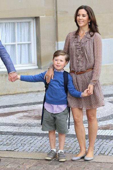 Princess Mary Photos - Prince Christian of Denmark's First School Day - Zimbio