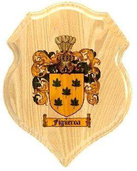 $34.99 Figueroa Coat of Arms Plaque / Family Crest Plaque